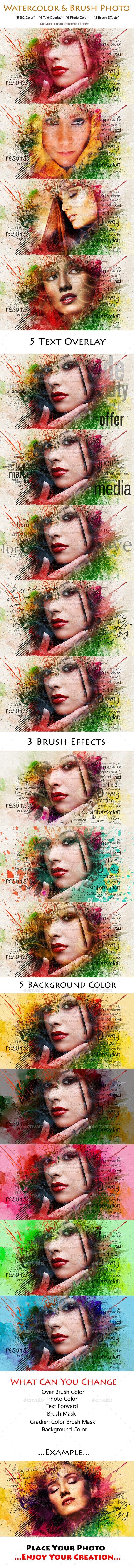 Watercolor & Brush Photo